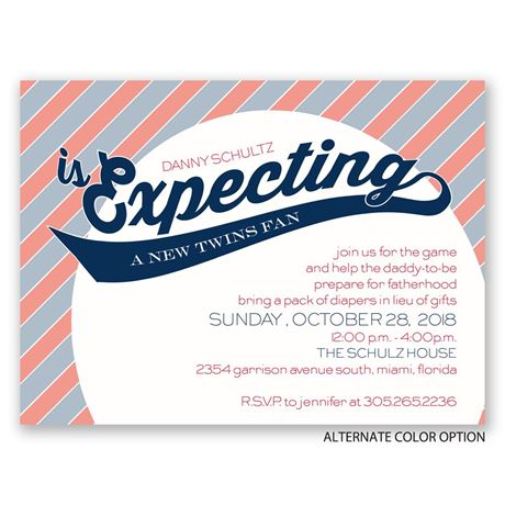 Little Sports Fan - Petite Baby Shower Invitation