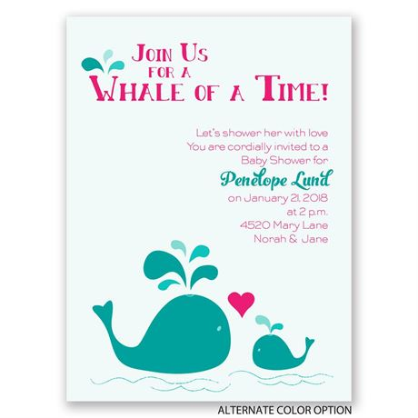 Spouting Love - Petite Baby Shower Invitation