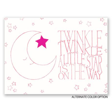 Twinkle, Twinkle - Petite Baby Shower Invitation