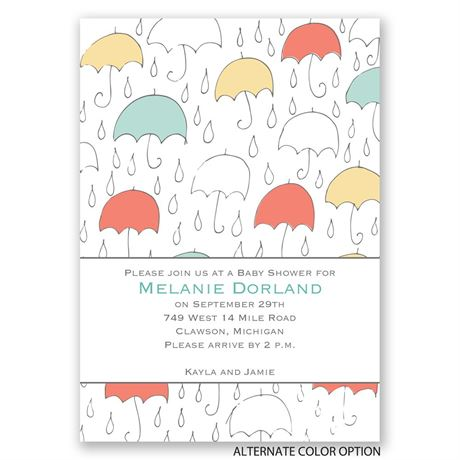 Under the Umbrellas - Baby Shower Invitation