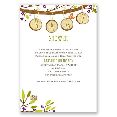 Charming by Nature Baby Shower Invitation