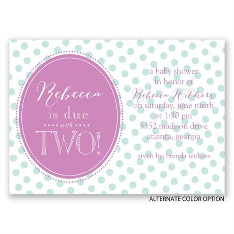 Due with Two - Mini Baby Shower Invitation