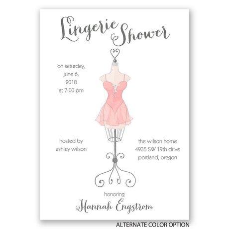Lingerie Display - Bridal Shower Invitation