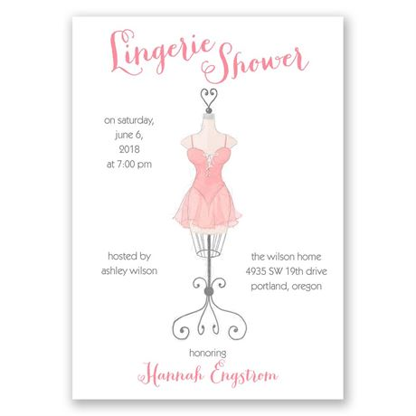 Lingerie Display Bridal Shower Invitation
