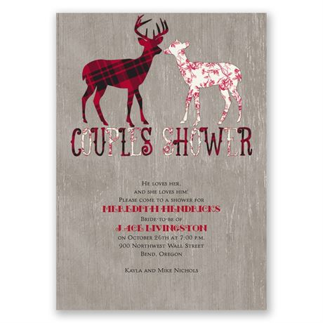 Buck and Doe Wedding Shower Invitation