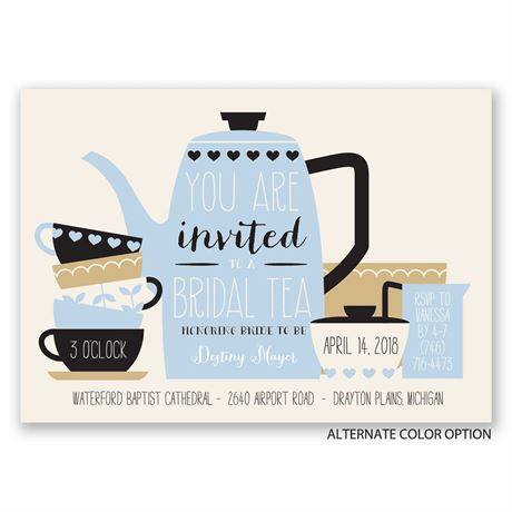 Bridal Tea - Bridal Shower Invitation