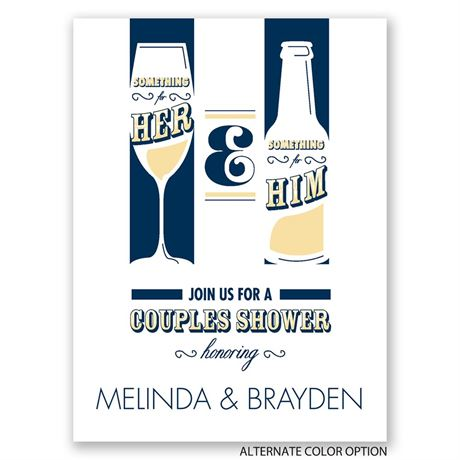 Drinks All Around - Petite Wedding Shower Invitation