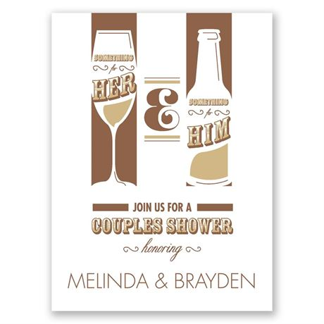 Drinks All Around Petite Wedding Shower Invitation