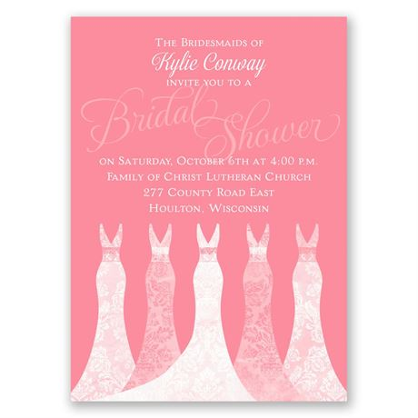 Simply Gorgeous Mini Bridal Shower Invitation