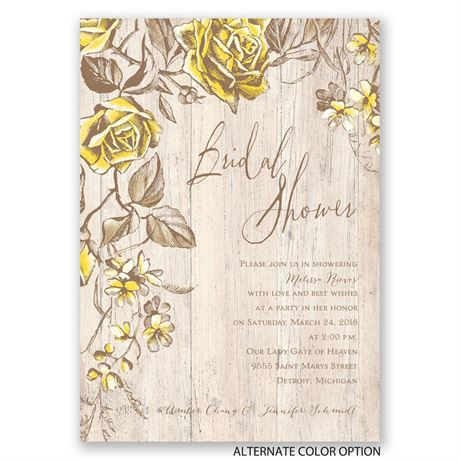 Rustic Rose - Bridal Shower Invitation