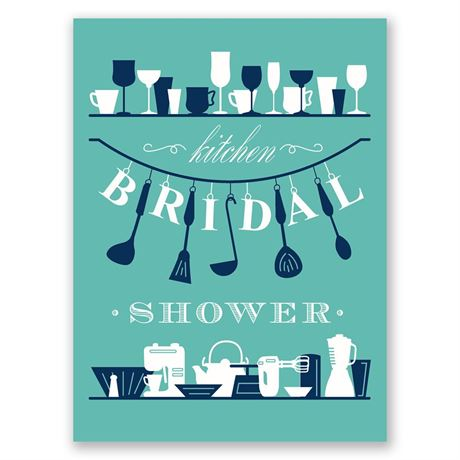 Kitchen Gadgets Petite Bridal Shower Invitation