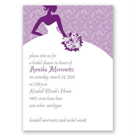 All Style Mini Bridal Shower Invitation