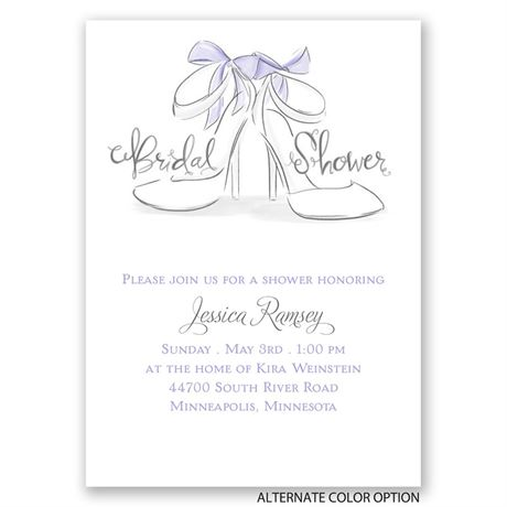 Wedding Shoes - Mini Bridal Shower Invitation