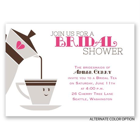 Cup of Tea - Mini Bridal Shower Invitation