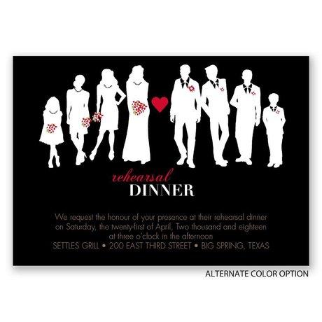 Pretty Silhouettes - Rehearsal Dinner Invitation