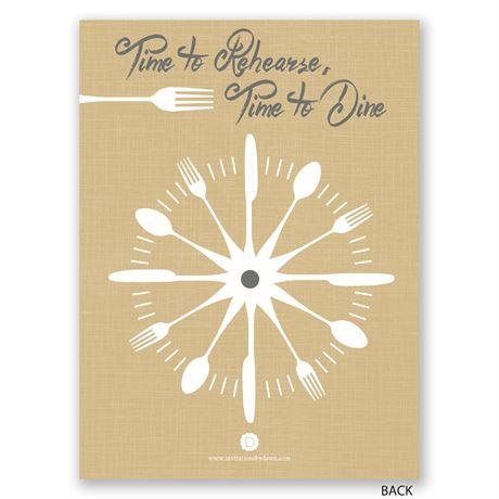 Good Times - Petite Rehearsal Dinner Invitation