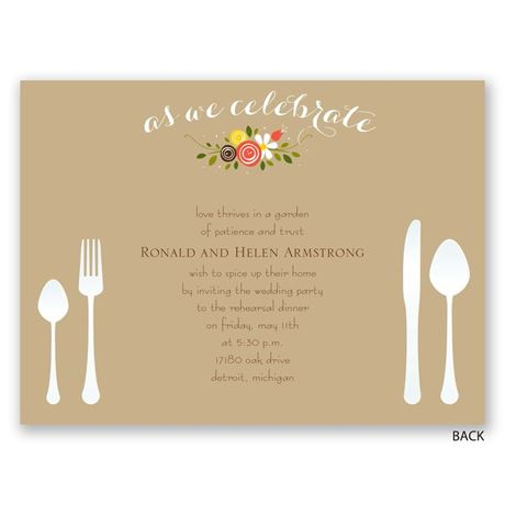 Sweet Florals - Petite Rehearsal Dinner Invitation