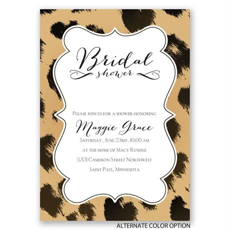Leopard Luxury - Bridal Shower Invitation