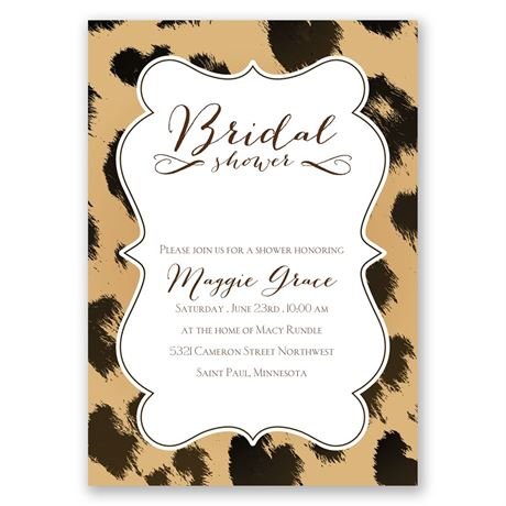 Leopard Luxury Bridal Shower Invitation