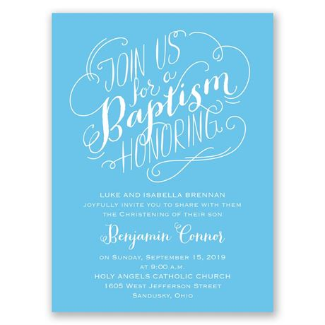 What an Honor Petite Baptism Invitation