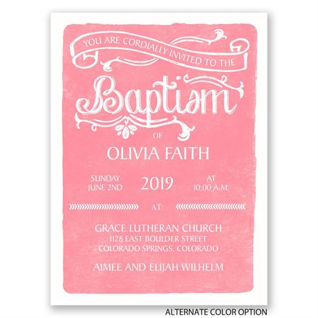 Elegant Traditions - Petite Baptism Invitation