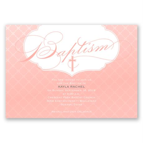 Pure & Simple Baptism Invitation