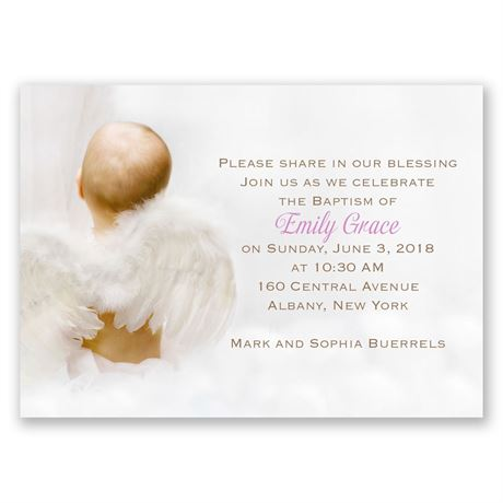 Little Angel Mini Baptism Invitation