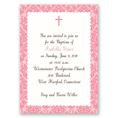 Beautiful Beginnings Mini Baptism Invitation