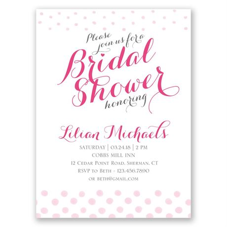 Polka Dot Fade Petite Bridal Shower Invitation
