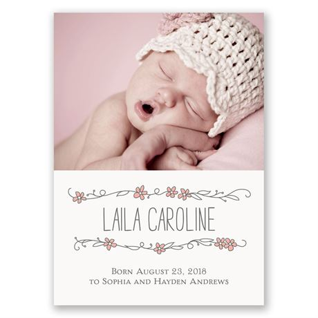 So Pretty Mini Birth Announcement