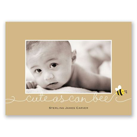 Bee Cute - Petite Birth Announcement