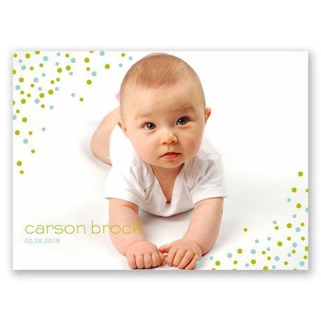Little Dots Petite Birth Announcement