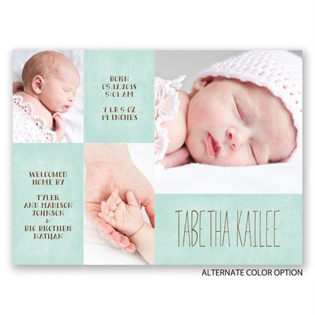 Sweetly Arranged - Petite Birth Announcement