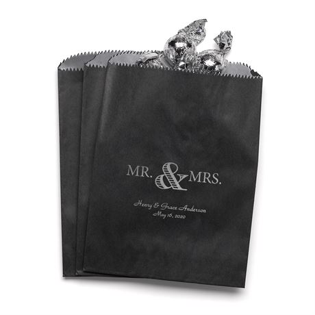 Golden Elegance - Black - Favor Bags