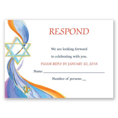 Star of David Response Card