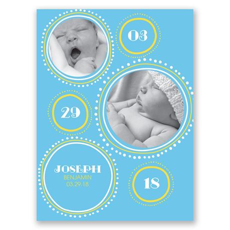 Drawing Circles Petite Birth Announcement