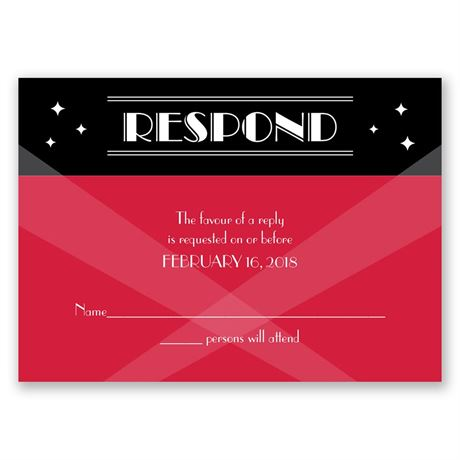 Red Carpet Response Card