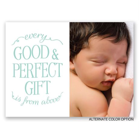 Perfect Gift - Petite Birth Announcement