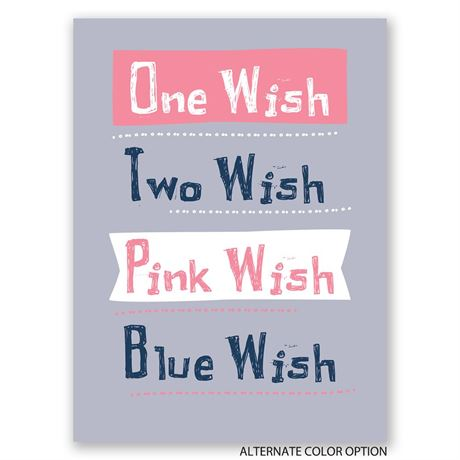 Wish Granted - Petite Gender Reveal Invitation