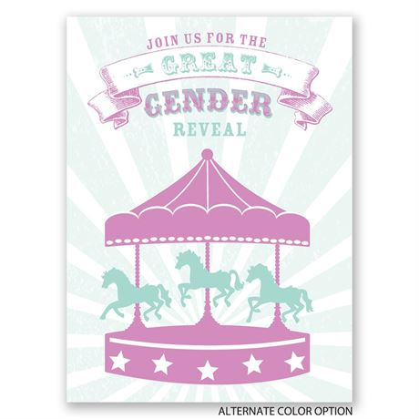The Main Attraction - Petite Gender Reveal Invitation