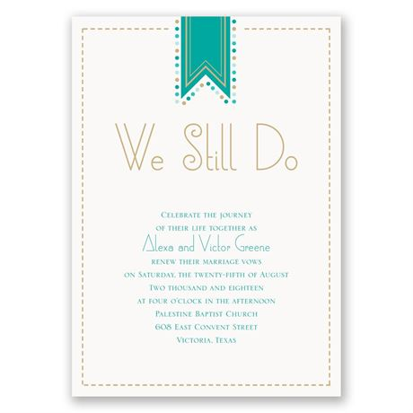 Banner and Dots Vow Renewal Invitation