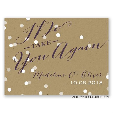 Light of My Life - Petite Vow Renewal Invitation