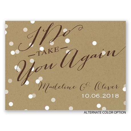 Light of My Life - Petite Vow Renewal Invitation