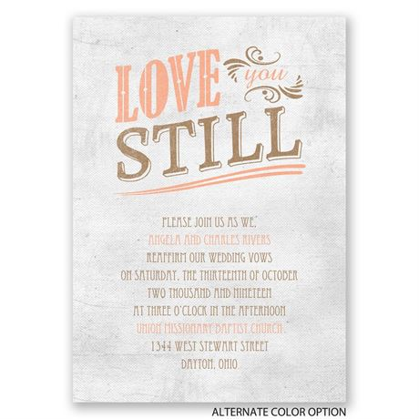 Love You Still - Vow Renewal Invitation