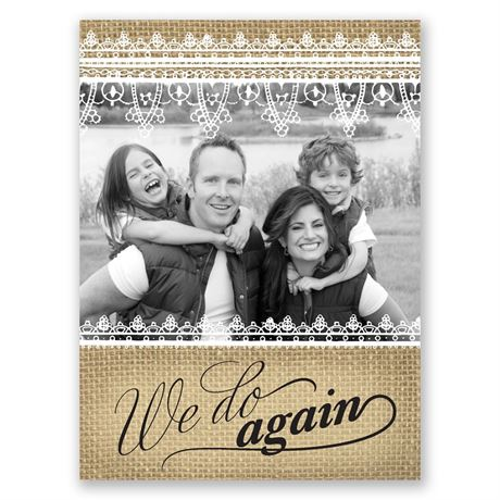 Rustic Renewal Petite Vow Renewal Invitation