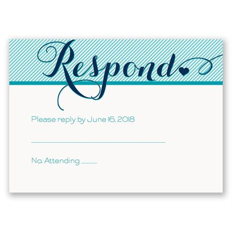 Pinstriped Romance Response Card
