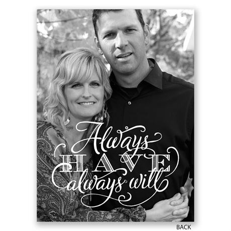 Always Will - Petite Vow Renewal Invitation