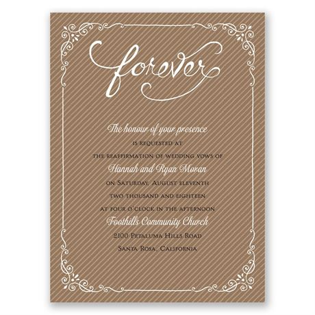 Always Will Petite Vow Renewal Invitation