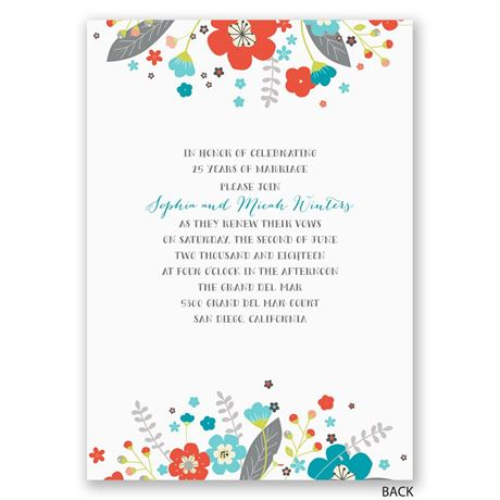 Wildflower Wonder - Vow Renewal Invitation