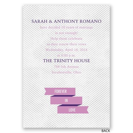 Banner and Stripes - Vow Renewal Invitation